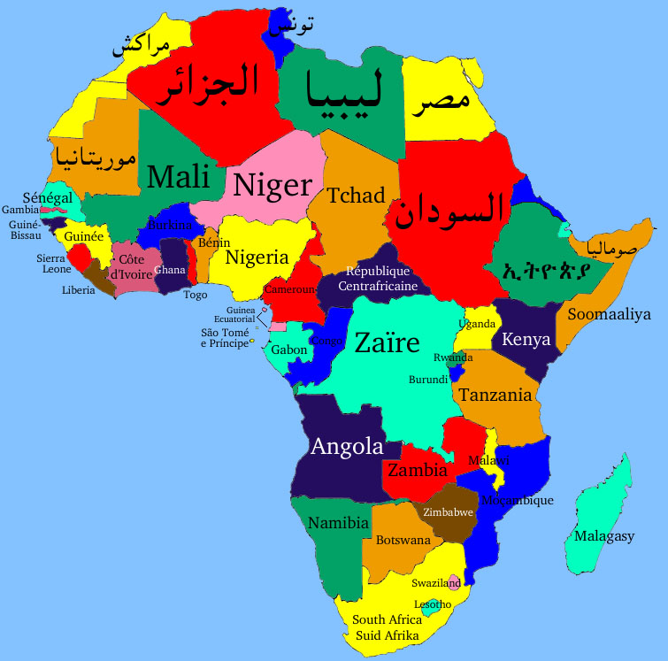 Language Map Of North Africa Map Of India Language Map Of - African language map